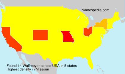 Familiennamen Wulfmeyer - USA