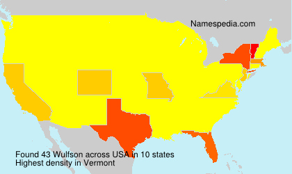 Surname Wulfson in USA