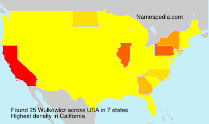 Surname Wulkowicz in USA