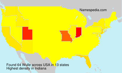 Surname Wulle in USA
