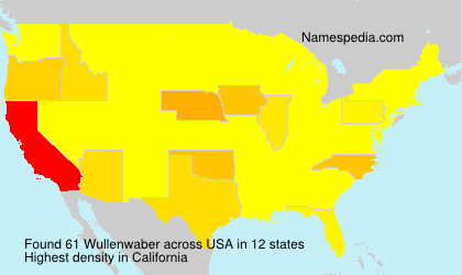 Surname Wullenwaber in USA