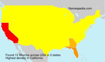 Surname Wurche in USA