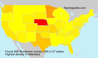 Surname Wurdeman in USA