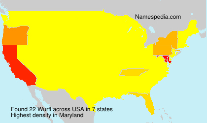Surname Wurfl in USA