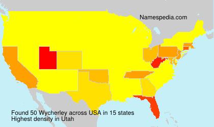 Familiennamen Wycherley - USA