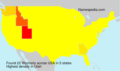 Surname Wycherly in USA