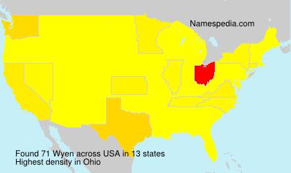 Familiennamen Wyen - USA