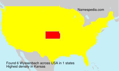 Surname Wyssenbach in USA