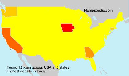 Surname Xam in USA
