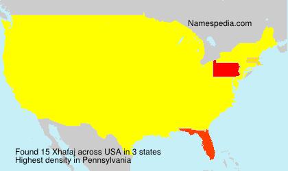 Familiennamen Xhafaj - USA