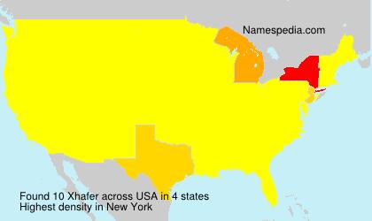 Familiennamen Xhafer - USA