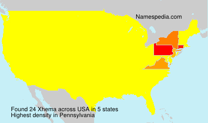 Surname Xhema in USA