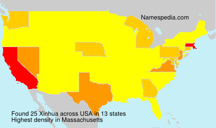 Surname Xinhua in USA