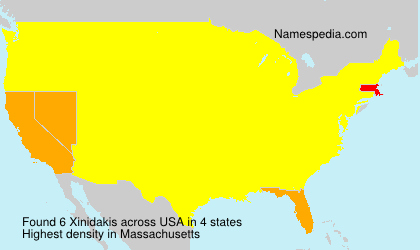 Surname Xinidakis in USA