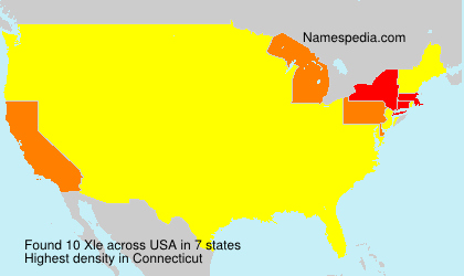Familiennamen Xle - USA
