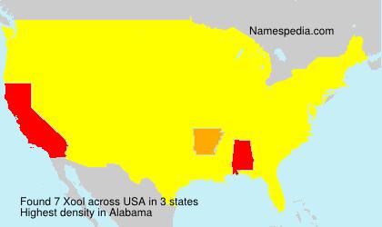 Familiennamen Xool - USA