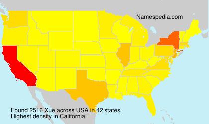 Familiennamen Xue - USA