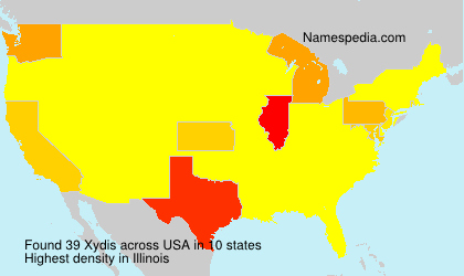 Surname Xydis in USA