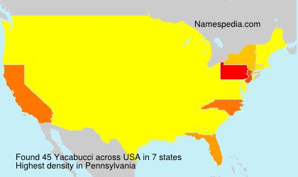 Familiennamen Yacabucci - USA
