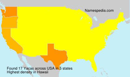 Familiennamen Yacas - USA