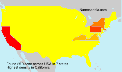 Surname Yacoe in USA