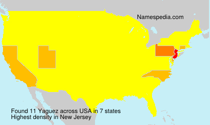 Surname Yaguez in USA