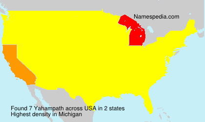 Surname Yahampath in USA