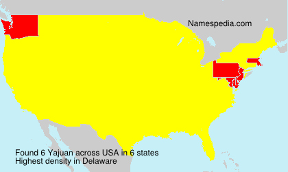 Surname Yajuan in USA