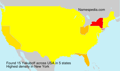 Surname Yakuboff in USA