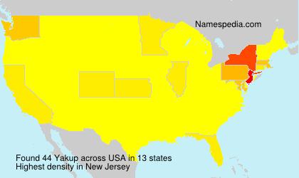 Familiennamen Yakup - USA