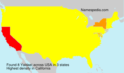 Surname Yaldaei in USA
