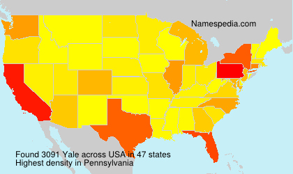 Surname Yale in USA