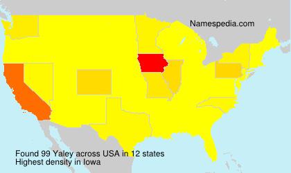 Familiennamen Yaley - USA