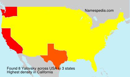 Surname Yalovsky in USA
