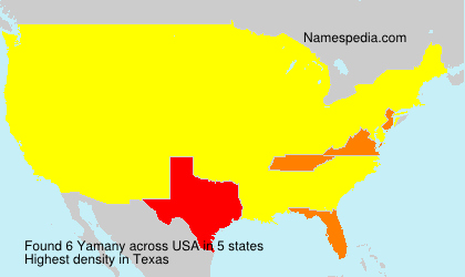 Surname Yamany in USA