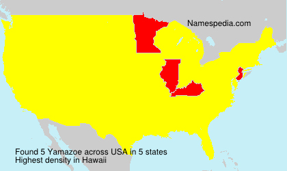 Surname Yamazoe in USA