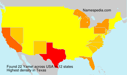 Surname Yamel in USA