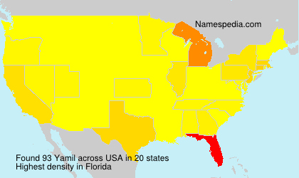 Surname Yamil in USA