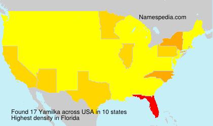 Surname Yamilka in USA