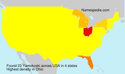 Surname Yamokoski in USA