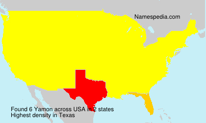 Surname Yamon in USA