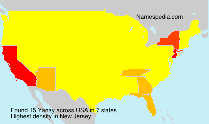 Surname Yanay in USA
