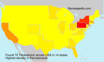 Surname Yankelevich in USA