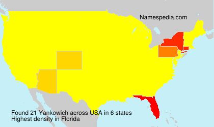 Surname Yankowich in USA