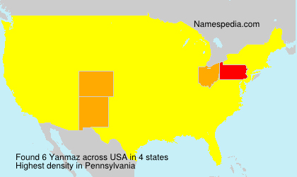 Surname Yanmaz in USA