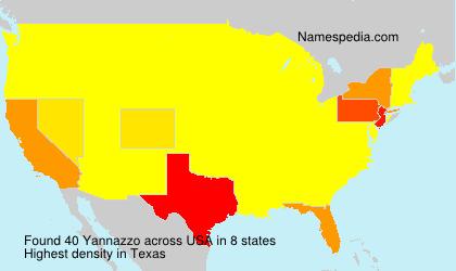 Familiennamen Yannazzo - USA