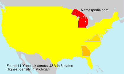 Surname Yanosek in USA