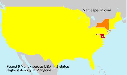 Familiennamen Yanuk - USA