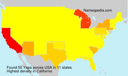 Familiennamen Yapa - USA