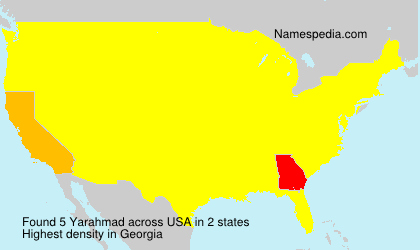 Surname Yarahmad in USA